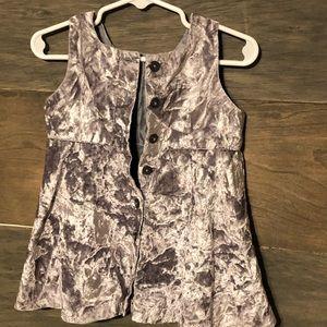 Baby vintage gap silver velvet jumper, 6-12mos